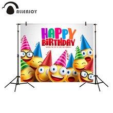 Allenjoy fotografia sfondo carino smiley colorato buon compleanno sfondo foto in studio di nuovo di disegno della macchina fotografica fotografica