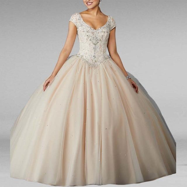 900f9212ba52049 Бальное платье цвета шампанского, бальное платье, милое 16 лет, платья  принцессы для 15