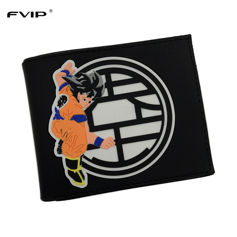 FVIP Dragon Ball Z Wallet Japanese Anime Cartoon Wallet Purse Short Wallet For Men Women Dollar Price hot cartoon anime purse carteira masculina dragon ball z sun wukong wallet dollar price men women card holder gift kids wallet