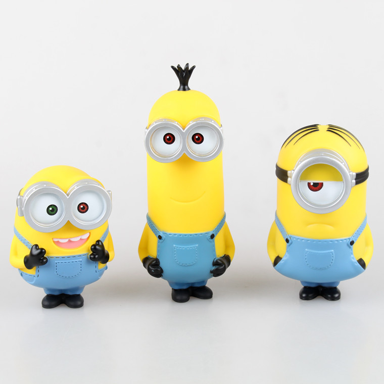 Free shipping 2016 Hot Child Gift Home decoration Coin Money Box saving pot Despicable me Dave Minion Piggy Bank  KC019
