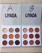 2017 Hot solds Liyada kylighter Eyeshadow Palette Make Up Brand Eyeshadow Cosmetic Glitter Makeup Pigment 9 Color Eyeshadow