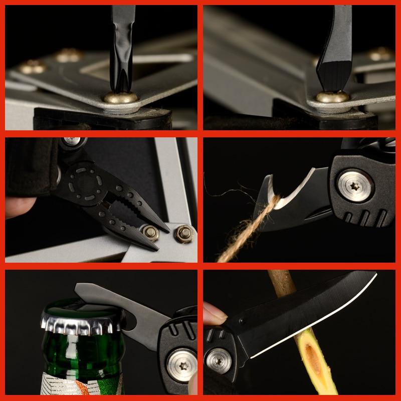 Купить с кэшбэком Mini Multi Tool Plier Folding Knife Survival Multitools Camping Outdoor EDC Tools Fishing Multifunctional Fold Pliers