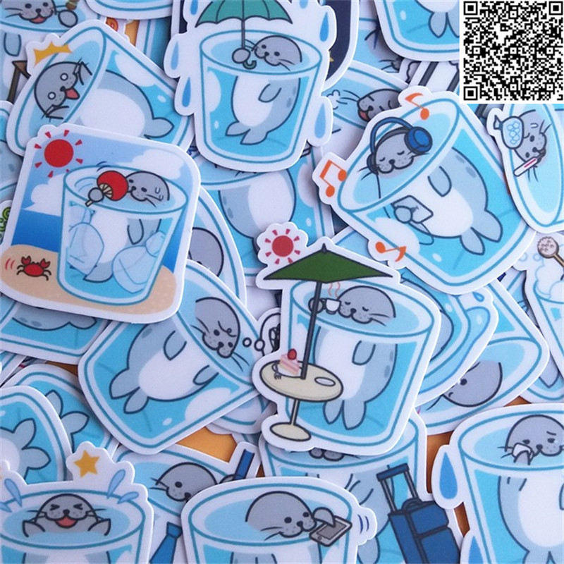 39 Pcs Cup Seals Paper Sticker For Luggage Skateboard Phone Laptop Moto Bicycle/Eason Stickers/DIY Scrapbooking
