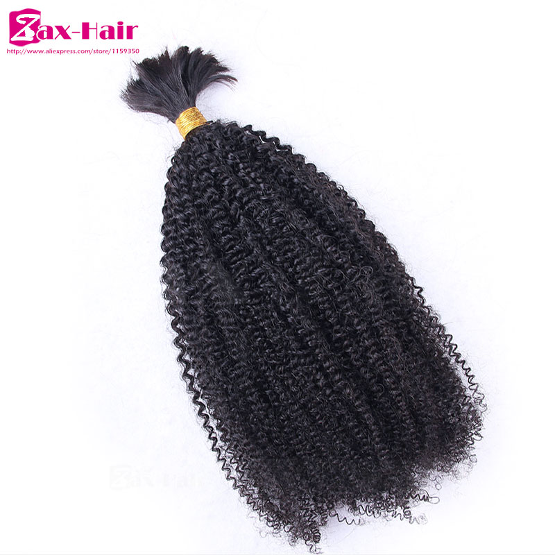 Sale Price Virgin Hair Bulk Afro Kinky Curly Bulk Hair For Braiding In Stocked Top Quality Brazilian Virgin Human Hair Grade 7A