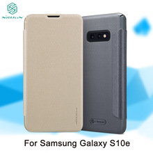 For Samsung Galaxy S10e Case Cover NILLKIN Sparkle PU Leather Cases Flip Book Style Cell Phone Bag