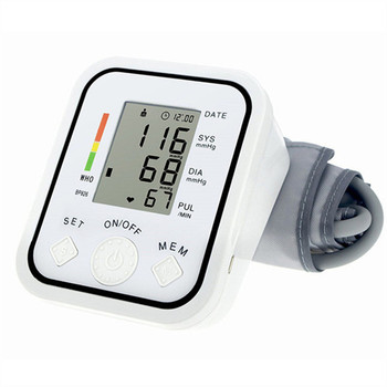 Home Health Care Digital blood pressure monitor high accurancy quality goods Upper Arm Heart beat tonometer for measure quickly 2