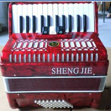 26 Piano 48 Bass piano Accordion entry level Red or black for choice with shoulder strap and case