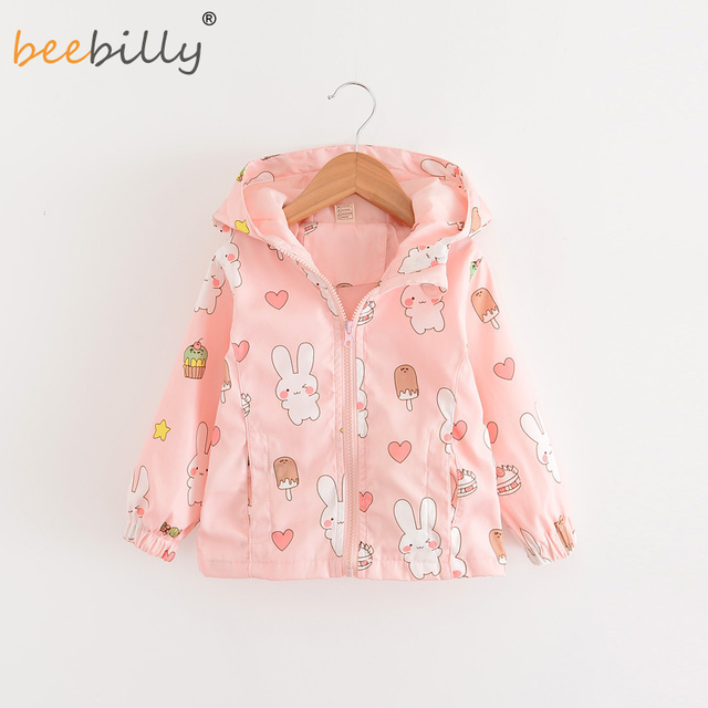 0829851a6 2 7T Baby Girls Jackets Hooded Windproof Kid s Clothing Cartoon ...