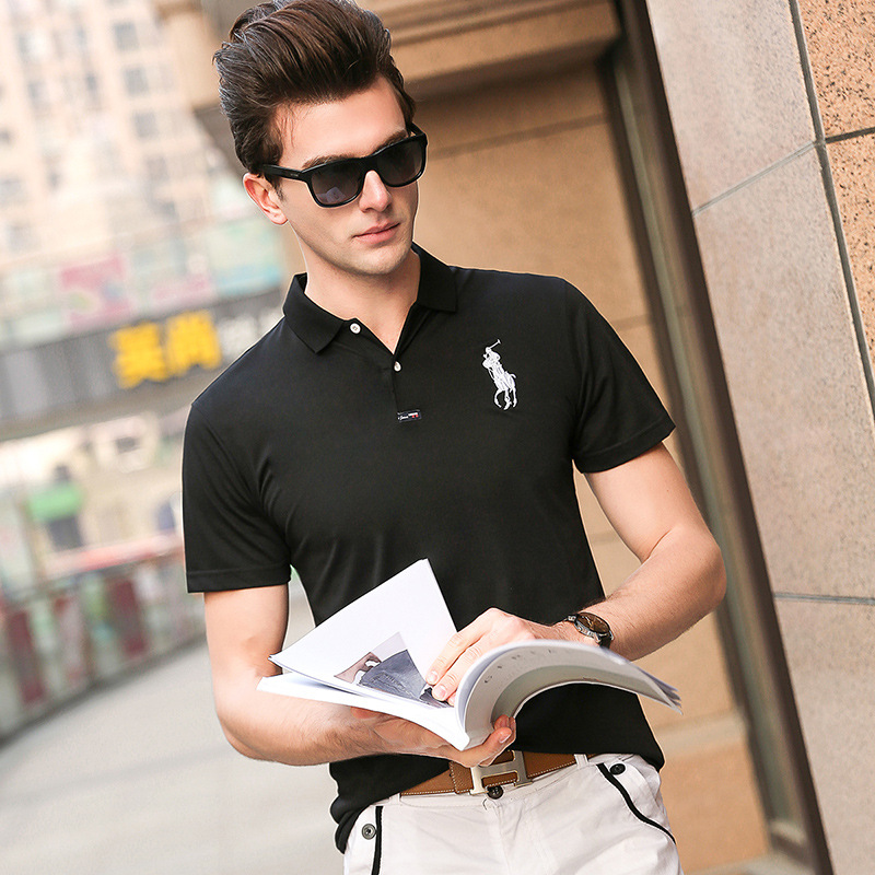 2018 Brand Short Sleeve   Polo   Homme De Marque Haute Qualite Casual Silm   Polos   Para Hombre Turn-down Collar   Polo   Shirt Men Clothes