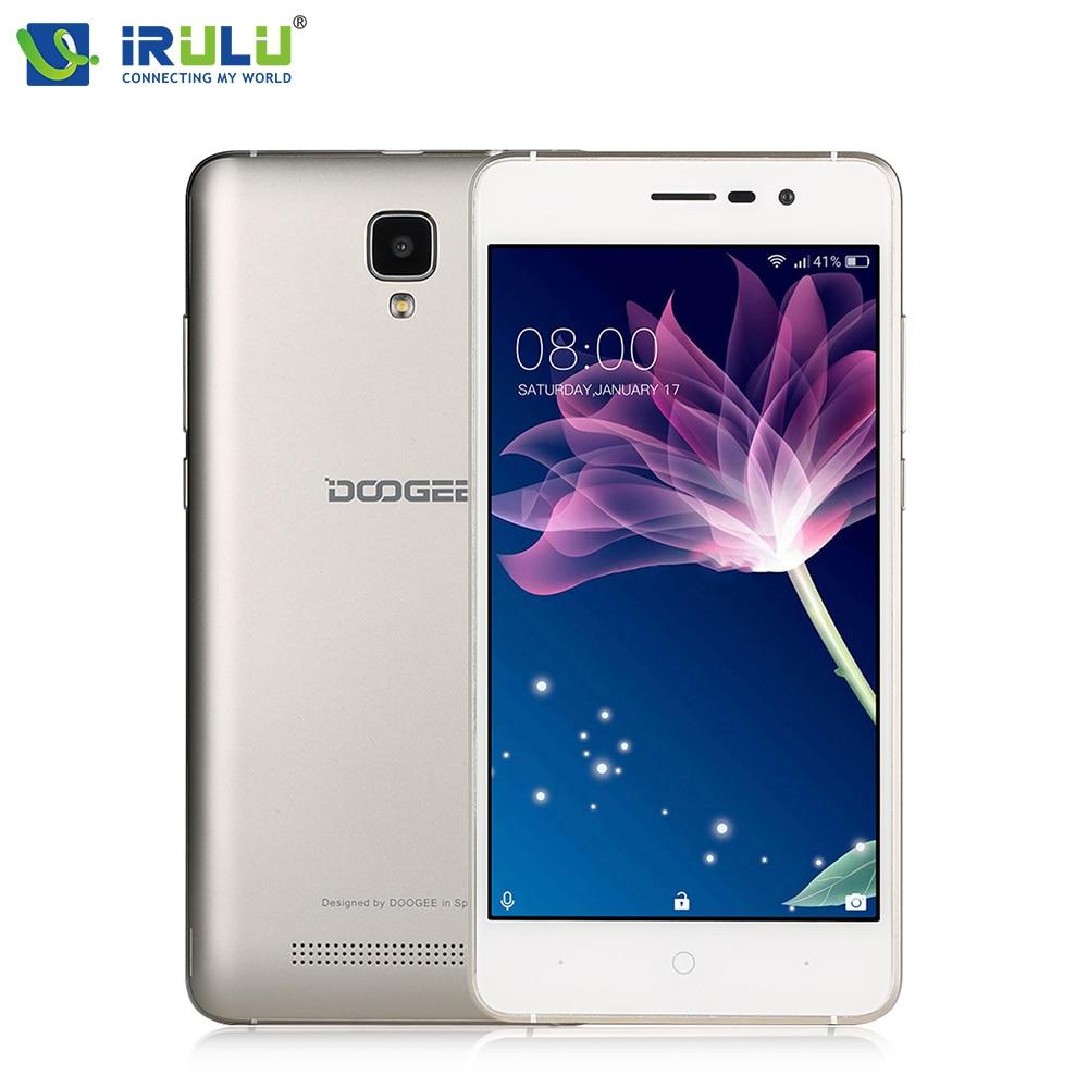 "DOOGEE X10 5"" 3G Smartphone Android 6.0 MTK6570 Dual Core 512MB RAM 8GB ROM Mobile Phone 3360mAh 5MP Dual ID Dual SIM Cellphone"