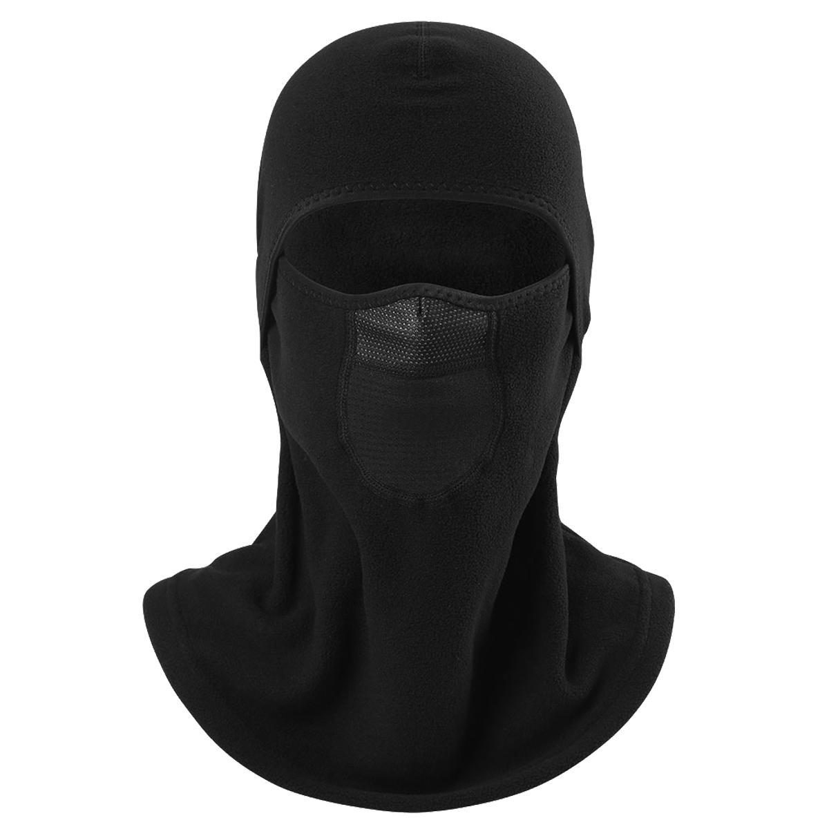 Cold Weather Winter Wool Thermal Polar Fleece Neck Warmer Balaclava Breathable Windproof Bicycle Snowboard Full Face Mask Black