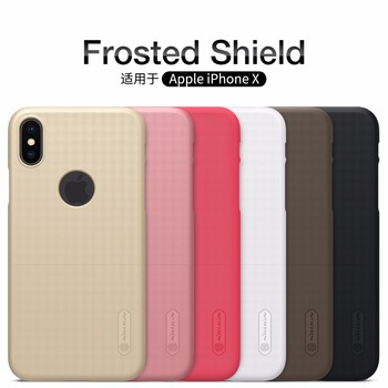 Iphone için kılıf XS NILLKIN Süper Buzlu Kalkanı sert arka kapak kılıf apple iphone X X S Max XR SE 5 5 S 6 6 S 7 ARTı