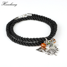 Wholesale Movie Bangles Outlander Scottish National Flower Oval Scotland Thistle Scotland Bracelet Bangle Women Girls Xmas Gift(China)