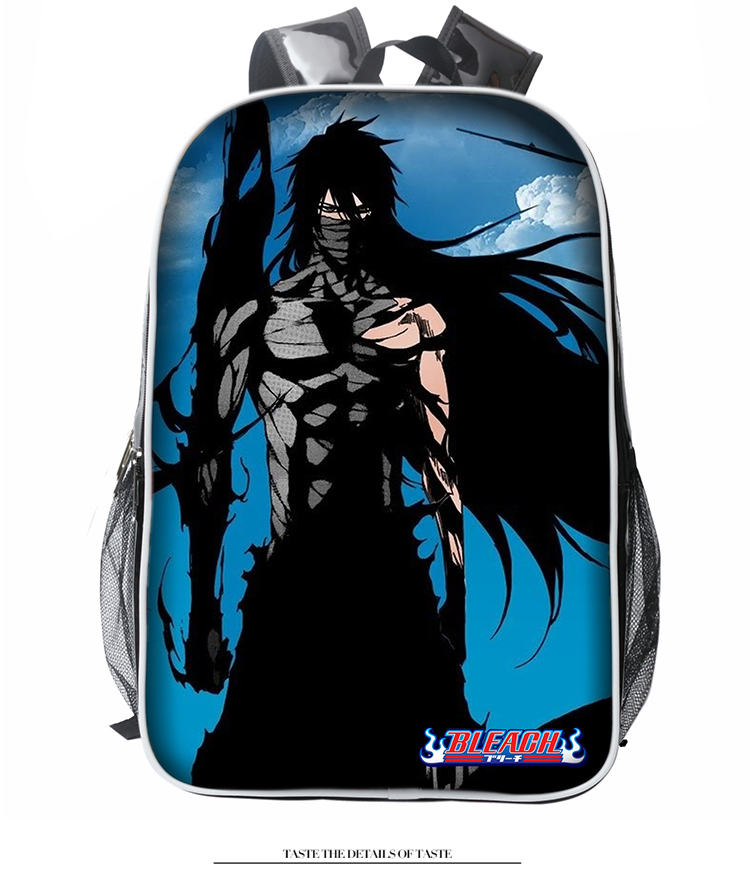 Anime BLEACH Cosplay Kurosaki ichigo Anime backpack Korean college style pu female male student bag birthday gift anime fairy tail cosplay anime shoulder bag male female student travel leisure large capacity backpacker birthday gift