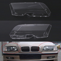 Mayitr 1 Pair Car Headlight Headlamp Plastic Clear Lens Cover Shell For BMW E46 3 Series