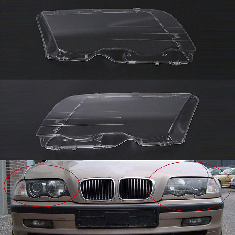 Mayitr 1 Pair Car Headlight Headlamp Plastic Clear Lens Cover Shell For BMW E46 3 Series 320i 325i 325xi 330i 330xi 1998-2001 tesler pe 10