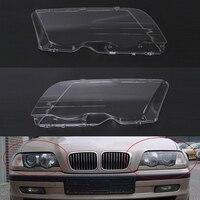 Mayitr 1 Pair Car Headlight Headlamp Plastic Clear Lens Cover Shell For BMW E46 3 Series 320i 325i 325xi 330i 330xi 1998 2001
