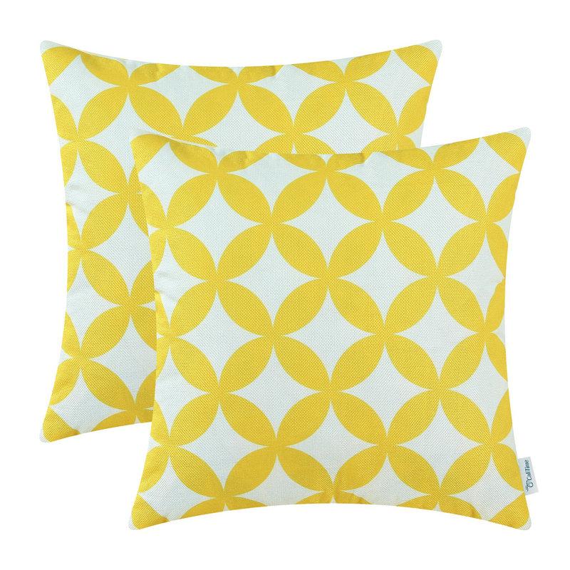 2 stk firkantet CaliTime pute deksel puter Shell geometrisk kjede 18 - Hjem tekstil