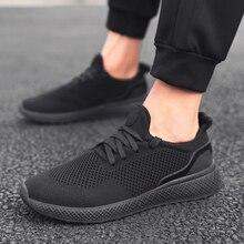 f25b9fc6b Homens Tênis Luz Respirável sapatos de Malha Homens Sapatos Casuais  39-46code lmmxmg 2019 Novos Homens Da Moda Lace-up Sapato pa.