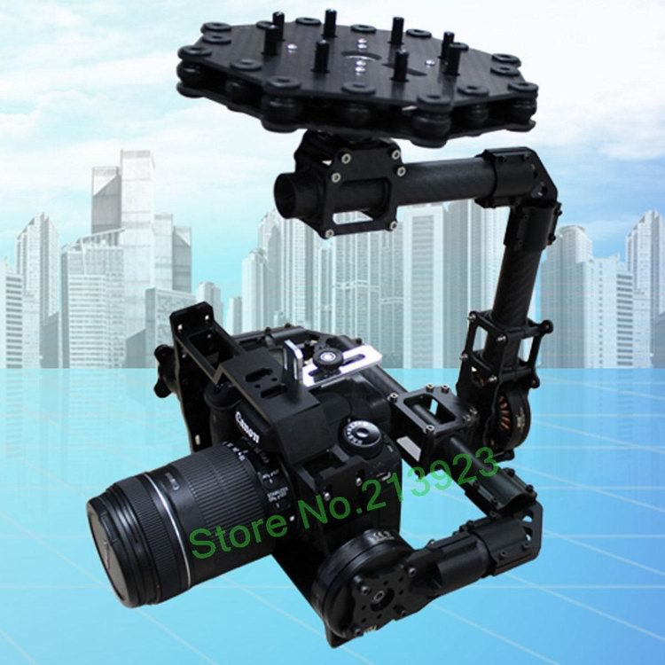 DYS FPV DSLR Aerial Camera  3 Axis Brushless Gimbal Carbon Mount + 32Bit AlexMos Controller + 3 Motor CANON 5D MarkII D900 a900 dys 3 axis gimbal mount kit 3pcs 4108 brushless motor 8bit alexmos controller for sony nex ildc camera photography fpv