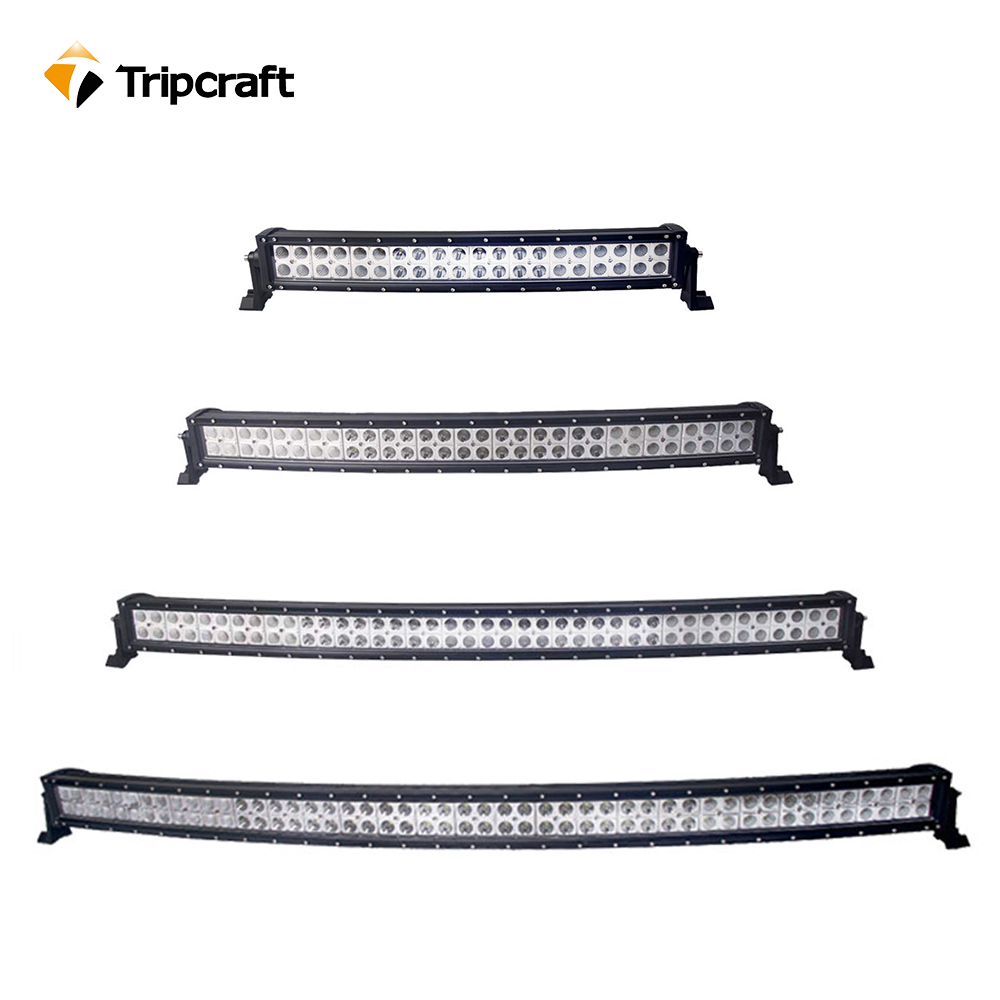 Tripcraft 120W 180W 240W 288W Curved LED work light Bar for Offroad boat car SUV 4WD ATV ramp spot beam Epistar fog lamp 12V 24V tripcraft 108w led work light bar 6500k spot flood combo beam car light for offroad 4x4 truck suv atv 4wd driving lamp fog lamp