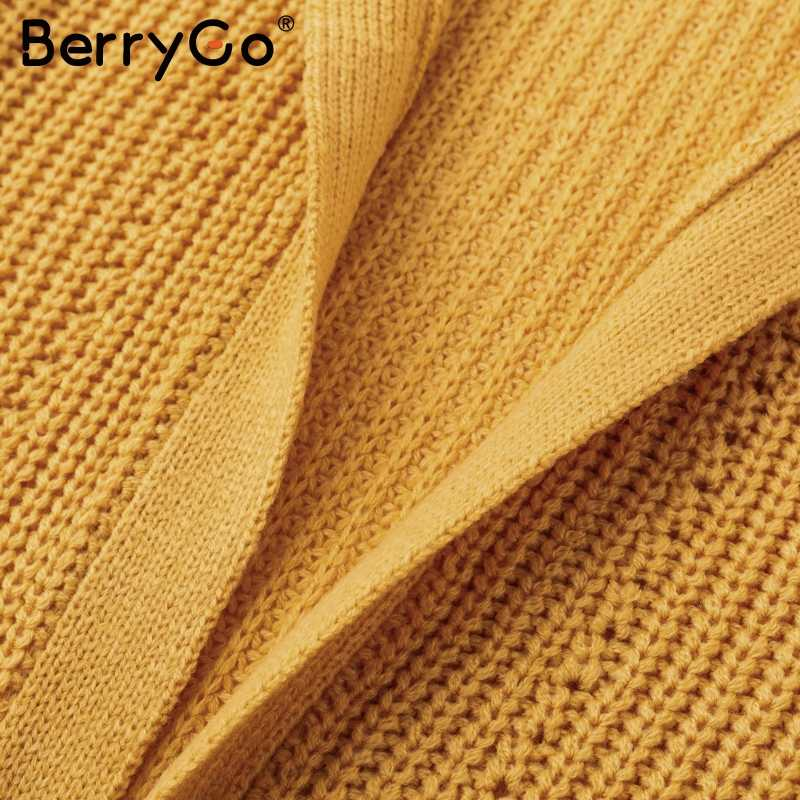 BerryGo Повседневный вязаный длинный кардиган свитер женский кимоно свободный осенний свитер кардиган 2018 зимний свитер женский белый джемпер