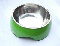 Двойной Слои кота собаки Еда подачи воды чаша Нержавеющаясталь большая собака Кормление Чаши противоскользящие XL Зеленый