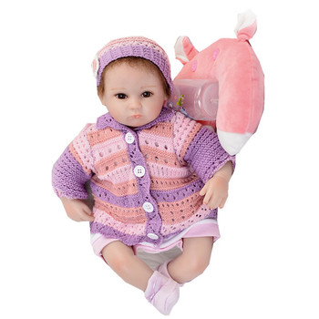 Realistic bebes Reborn baby Girl Dolls 18'' Lifelike Soft Silicone Babies Reborn Baby Doll Toys For Children Christmas Gift