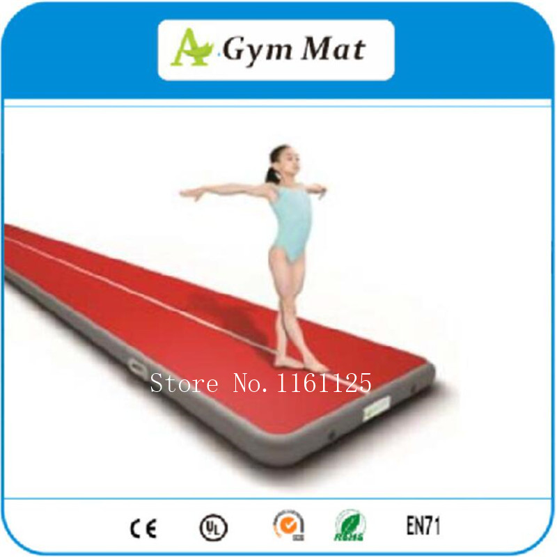 factory price 5x2m hot sale fitness airtrack inflatable exercise gym air tumbling track mats
