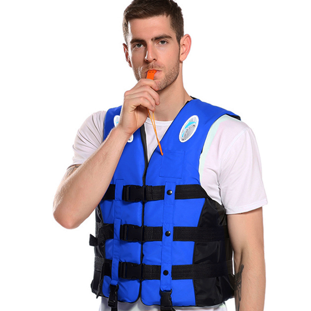 Fashion Style Water Sports Polyester Adult Life Jacket Universal Outdoor Swimming Boating Ski Drifting Vest Survival Suit With Whistle Choose