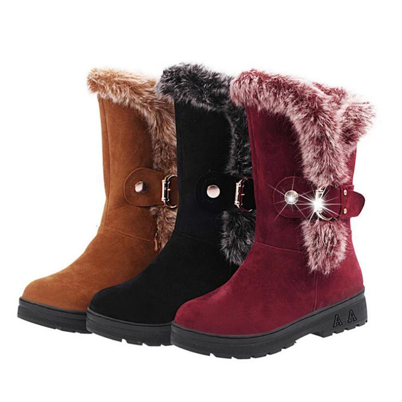 Popular Red Snow Boots Women-Buy Cheap Red Snow Boots Women lots ...