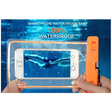 Waterproof Phone Bag Underwater Luminous back cover For Huawei Mate 10 Pro 9 8 P20 P7 P9 P10 P8 lite 2017 Honor 9 10 6X 7X V9 V8(China)