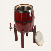 XXXG The high grade oak wine barrel wood wine beer beer barrel with 304 stainless steel bar night market