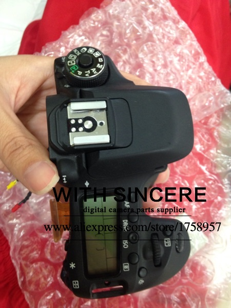 US $69 0 |90%New top cover For Canon 80D Top Cover Assembly With Top LCD  screen Flash Replacement Repair Part-in Camera LCD Screen from Consumer