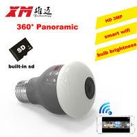 New HD 2MP WiFi IP Camera Panoramic View 360 Degree Light Bulb Camera 1080P Smart Home