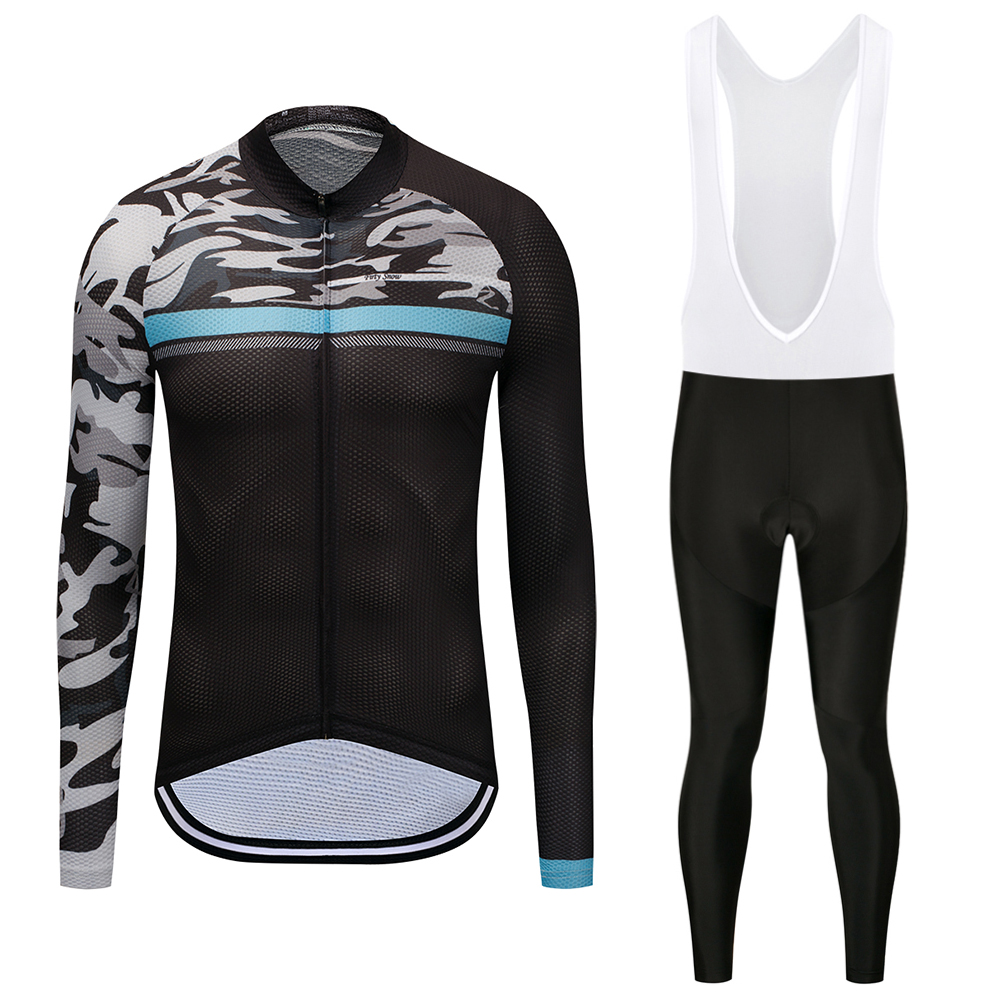Firty Snow Brand 2018 High Quality Newest Fabric Cycling Jerseys Wear Long Sleeves Set Bike Clothing Pants black