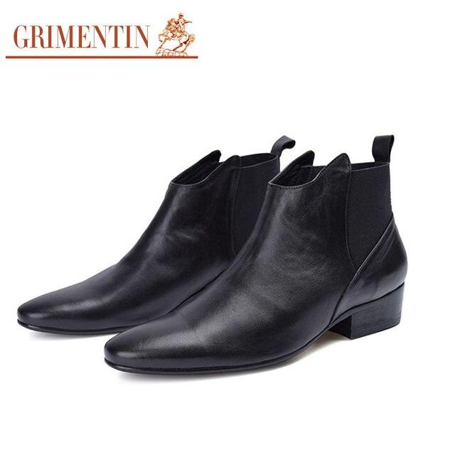 8a33c022fc GRIMENTIN di Marca mens stivali genuino stivali di pelle morbida e  confortevole scarpe da uomo da sposa di lusso Italia del progettista di  sesso ...