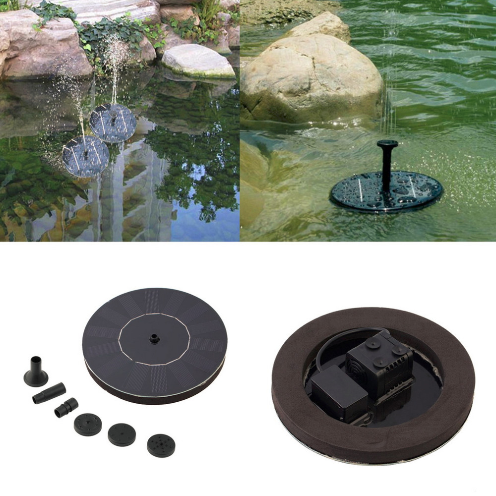 1PC Black Plastic Solar Powered Water Pump Garden Fountain Pond Kit For  Waterfalls Water Display 7V Garden Tool Drop Shipping In Watering Kits From  Home ...