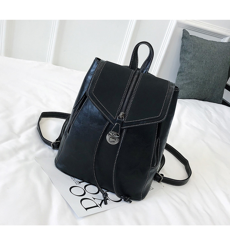 Vintage Matte Leather Women Backpacks High Quality Multifunctional Shoulder Bag Female Girls Backpack Retro Schoolbag XA533H