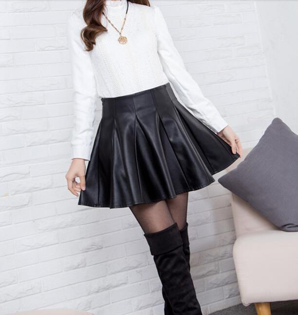 Девушка в коже юбке фото 299-110