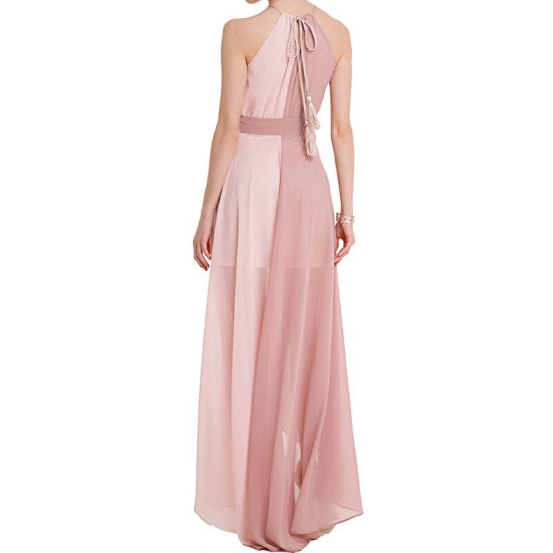 Verano 2018 mujer Bohemia estilo Patchwork gasa playa vestidos ...