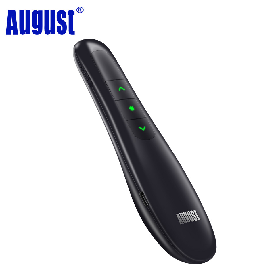 August LP230B Wireless Presenter with Mouse,Remote Page Changer ,Shortcut Key  2.4GHz RF PowerPoint Remote Control for Computer 3 7v lithium polymer battery 051 230 501 230 iron general remote control bluetooth headset wireless mouse