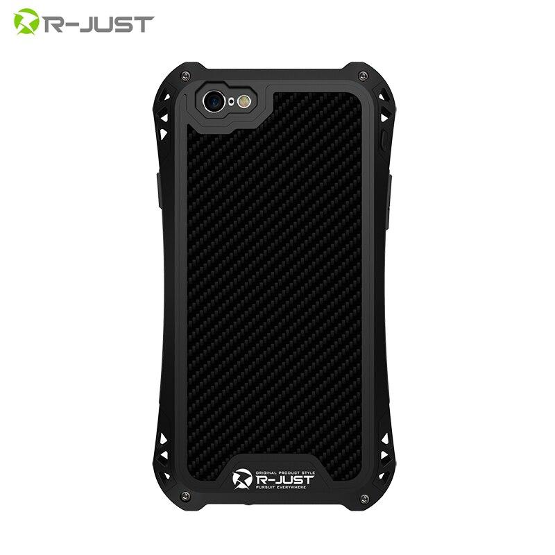 """imágenes para Prueba de choques impermeable de fibra de carbono del gorila de vidrio templado y aluminio armor case cubierta para iphone se 5 5s/6 6 s 4.7 """"/6 plus 6 s Plus"""