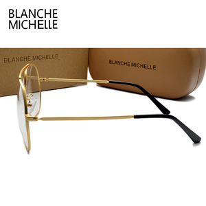 Image 5 - ステンレス鋼青色光メガネ女性男性 UV400 眼鏡フレームクリアメガネフレーム光学式ゴールド眼鏡メガネとボックス Glasses Women glasses Men glasses frame