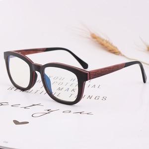 Image 5 - New Retro Sandwich Wood Glasses Purely Handmade Mens Fashion  Blue Light Lens Radiation proof Sunglasses Replaceable lens