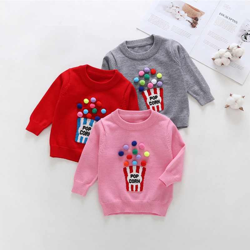 Baby Boy Girl Cartoon Pullover Knit Sweater Autumn Winter Warm Kids Children Soft Clothing Casual Tops High Quality Girl Clothes