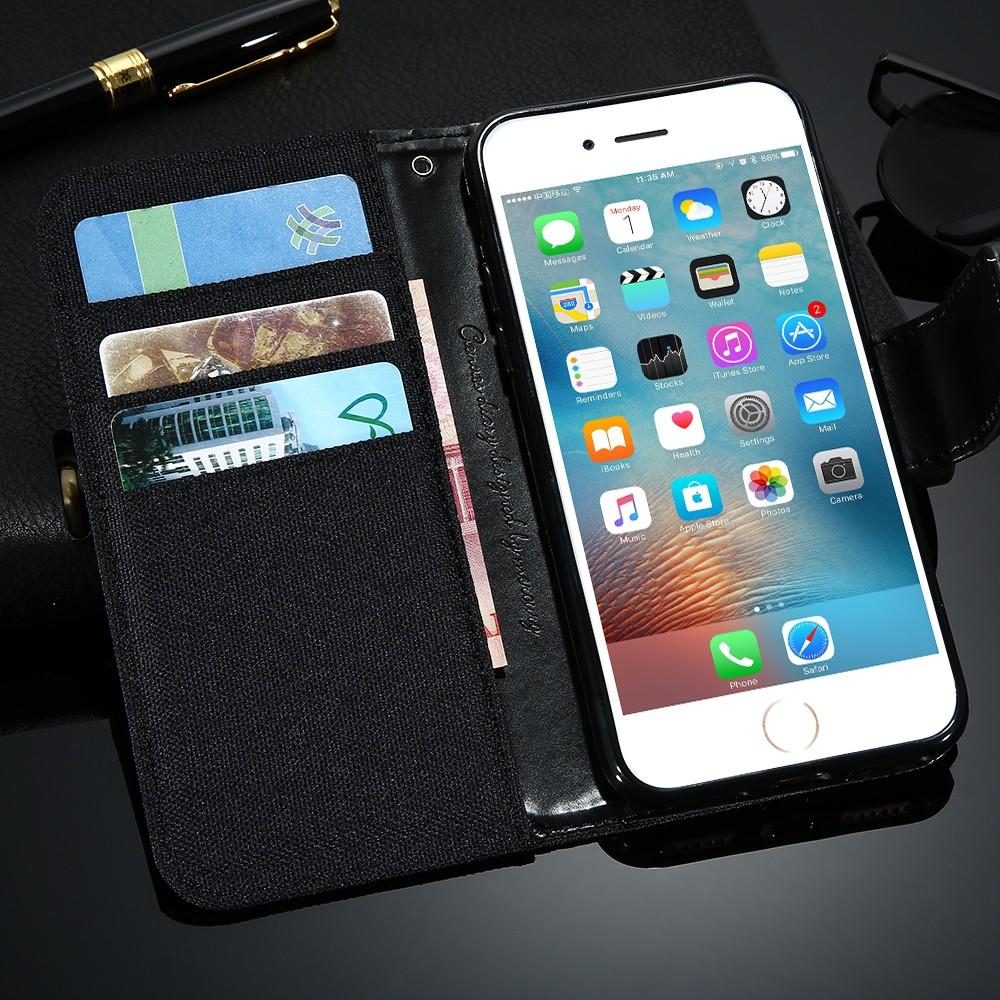 Kisscase stań portfel przerzuć przypadki dla iphone 6 6s 7 5 5S mody hit kolor slot kart skóra pokrywa dla iphone 7 6 s plus z logo 44