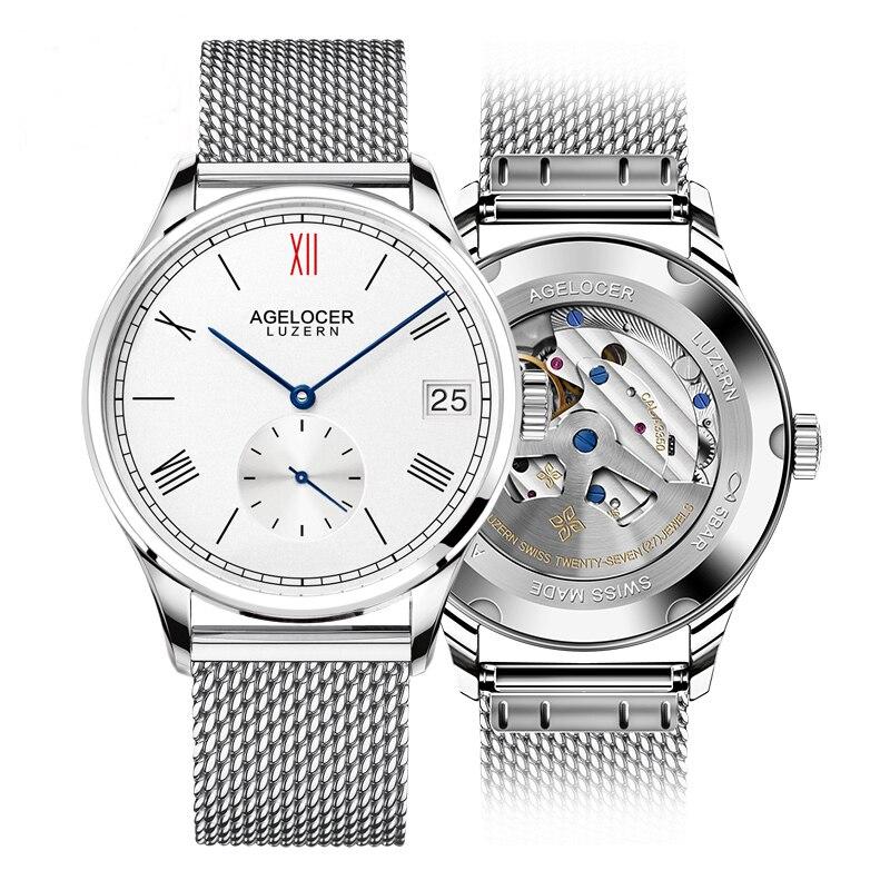 Agelocer Men Watch Swiss Luxury Famous Brand Relogio Masculino Business Sport Mechanical Wrist Watch Multi-functional Analog