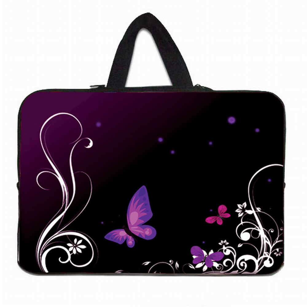 Female Flowers Notebook 17 Protective Bag Neoprene Soft Shell Bags Cases For Macbook Alienware 17.3 17.4 Laptop Women Bags