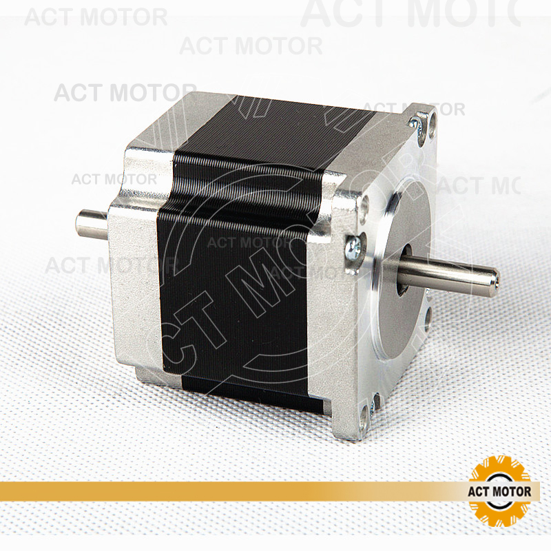 ACT Motor 1PC Nema23 Stepper Motor 23HS6620B Dual Shaft 185oz-in 56mm 2A 6-lead 2Ph CE ROHS ISO US CA UK DE FR IT DK BE JP Free act motor 1pc nema23 stepper motor 23hs8430 4 lead 270oz in 76mm 3 0a bipolar ce iso rohs us ca uk de it fr sp be jp free